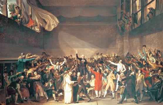 Cuadro en el que se refleja el juramento de la Asamblea Nacional de 1789, en el inicio de la revolución francesa