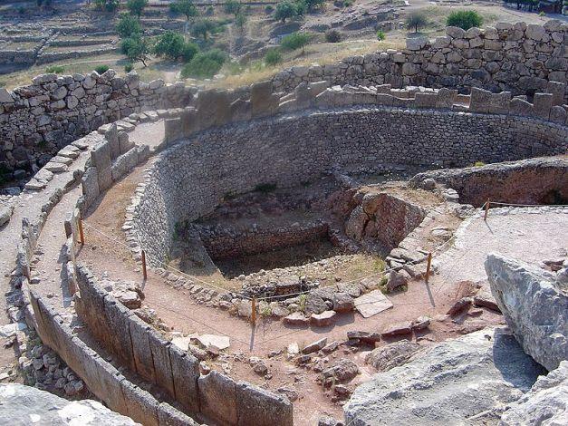 Parte de las ruinas arqueológicas de la ciudad de Micenas