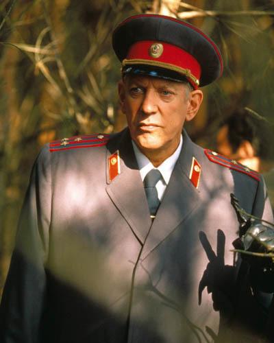 El actor Donald Sutherland en su papel en Ciudadano X