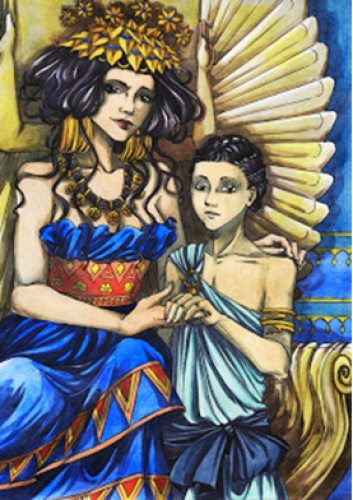 Zenobia y su hijo (Deviantart)