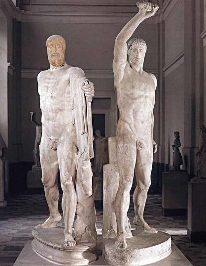 Grupo escultórico que representa a los asesinos del tirano Hiparco de Atenas