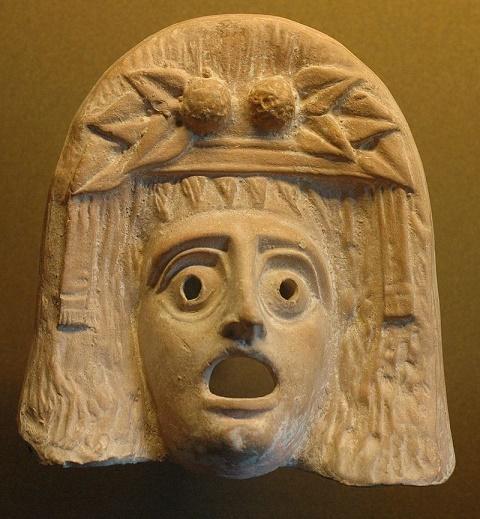 Máscara teatral representativa del dios Dionisos