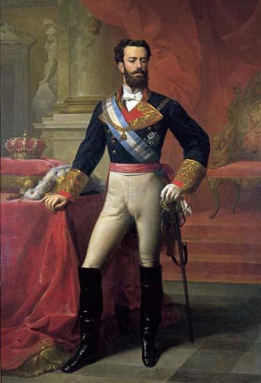Retrato del rey español Amadeo I, hecho clave de la Historia contemporánea de España