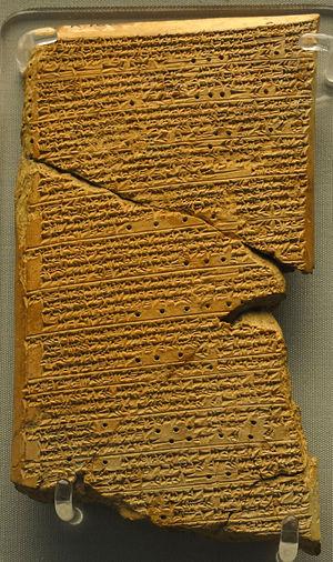 Tablilla de Venus de Ammisaduga, copia de una tablilla babilonia del 1600 a.C. que da una lista de las salidas y puestas de Venus en un ciclo de 21 años