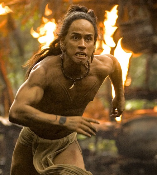 El actor Rudy Youngblood en una de las escenas de la película Apocalypto