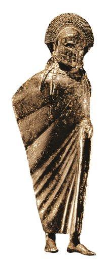 Estatuilla en bronce de un soldado espartano, del siglo VI a.C.