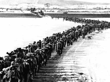 Soldados del ejército de Corea del Sur en la Guerra de Corea