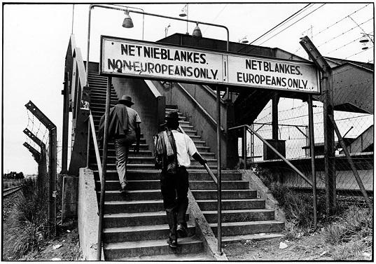 Escaleras diferenciadas para los blancos y los negros en el Apartheid, tema de mi artículo en la revista Histórica nº4