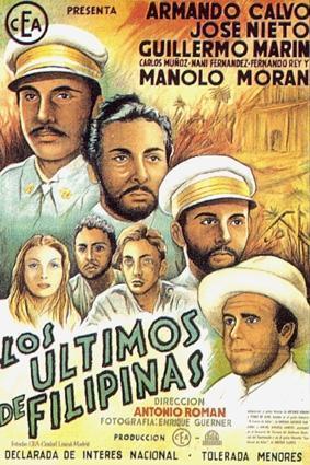 """Cartel de la película original de """"Los últimos de Filipinas"""" estrenada en 1945"""