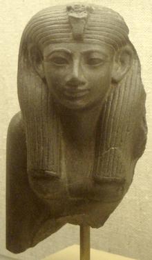 <em>Fragmento conservado de una estatua de Hatshepsut</em>