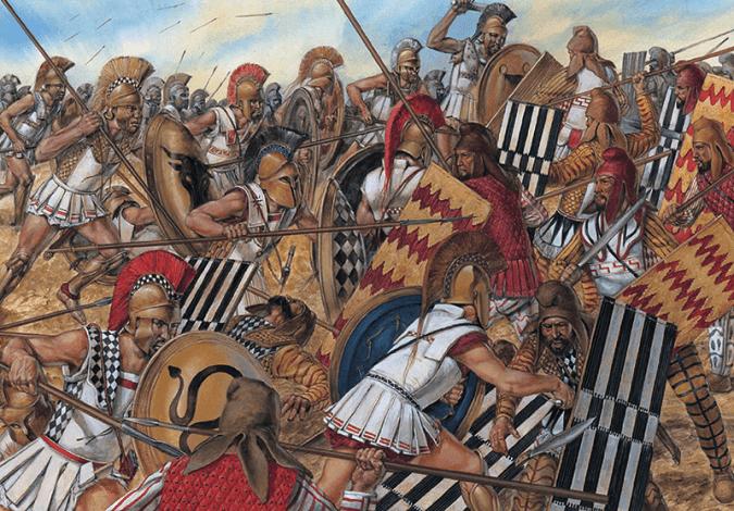 Ilustración sobre la Batalla de Maratón