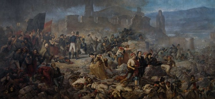 """""""El gran día de Girona"""", cuadro de Ramón Martí i Alsina (1891)"""