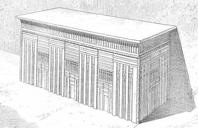 Grabado del sarcófago de Menkaure