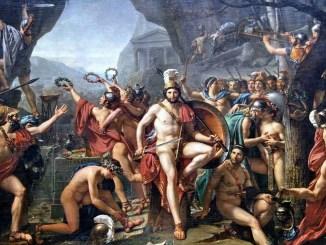 Leónidas en las Termópilas por Jacques-Louis David