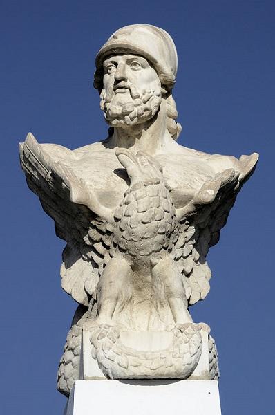 Busto atribuido a Cimón de Atenas en la isla de Chipre