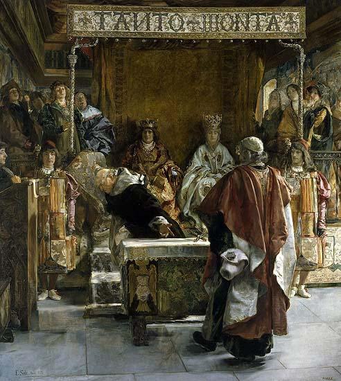 """""""Expulsión de los judíos de España"""", pintado por Emilio Sala Francés en 1889"""