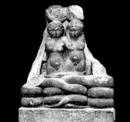 Estatua conservada de los hijos mellizos de Cleopatra arquehistoria