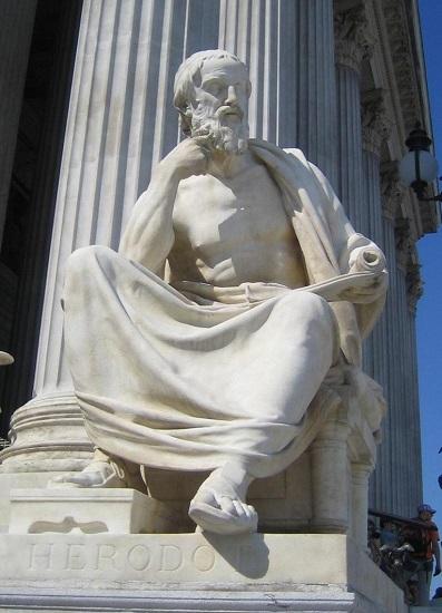 Estatua de Herodoto en el Parlamento de Viena