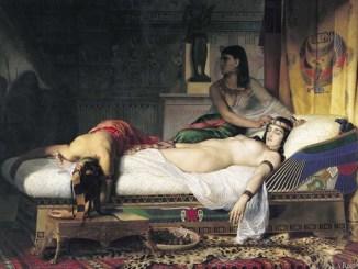 La muerte de Cleopatra de Jean André Rixens 1874