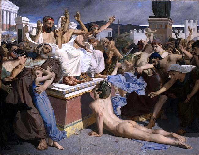 Filípedes al llegar a Atenas, Luc-Olivier Merson 1869