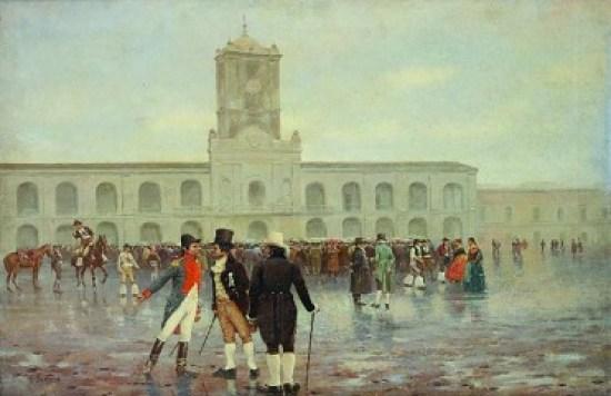 Cuadro sobre la revolución de mayo en Argentina hecho por Francisco Fortuny