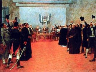Cuadro sobre el Congreso Extraordinario de Tucumán