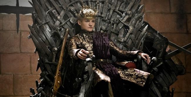 El rey Joffrey Baratheon en Juego de Tronos