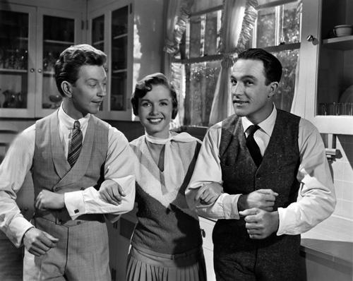 Donald O´Connor, Debbie Reynolds y Gene Kelly, protagonistas de Cantando bajo la lluvia