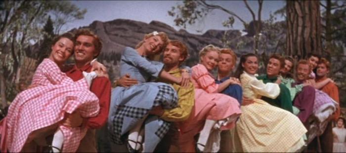 Protagonistas de Siete novias para siete hermanos (1954), ejemplo paradigmático del machismo en los musicales de Hollywood