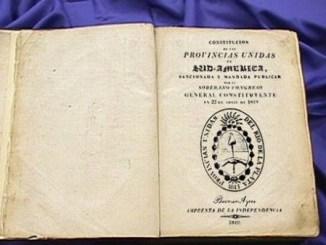 Constitución argentina de 1819, una de las más importantes consecuencias de la independencia de Argentina