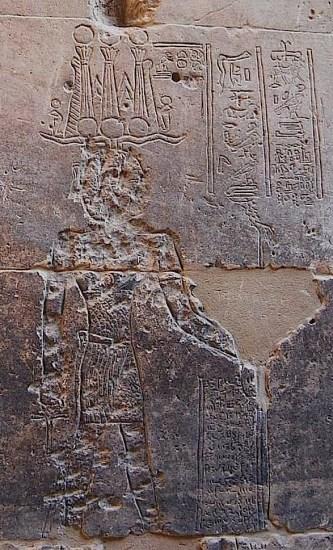 Puerta de los Antoninos del templo ptolemaico de Isis en Filae en el año 394 a.C.
