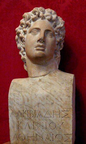 Busto de Alcibíades conservado en los Museos Capitolinos de Roma