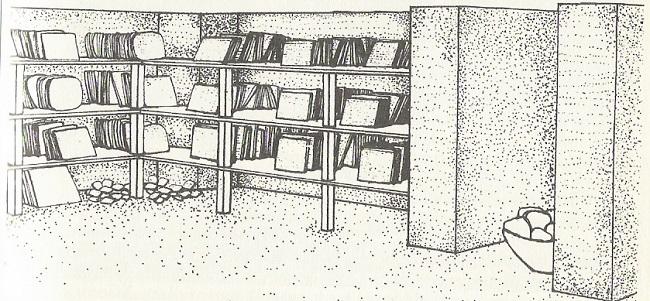 Reconstrucción de la disposición de las tablillas en los archivos de Ebla