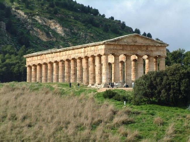Estado actual del templo de Segesta