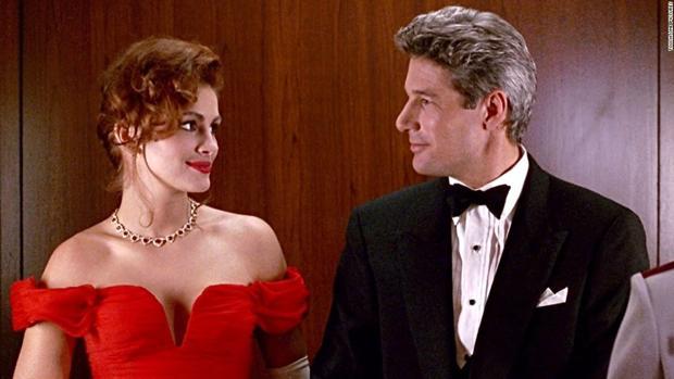 Julia Roberts y Richard Gere caracterizados como sus personajes en Pretty Woman (1994), uno de los mayores ejemplos del arquetipo de la Cenicienta