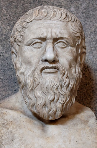 Copia romana de un busto griego del filósofo Platón