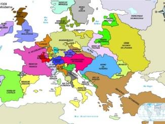 Mapa político de Europa en los principios de la Edad Moderna