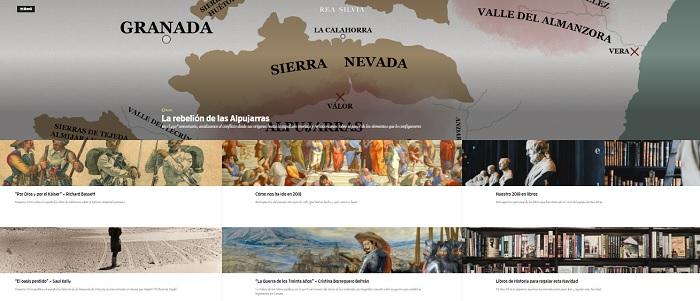 Captura de pantalla de la web Rea Silvia