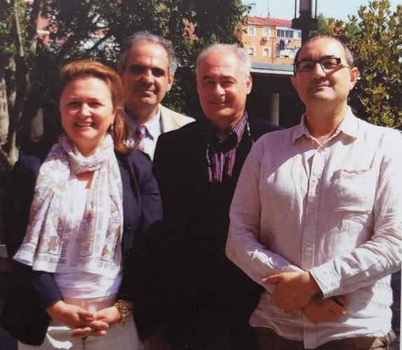 Fotografía de los cuatro autores de la obra