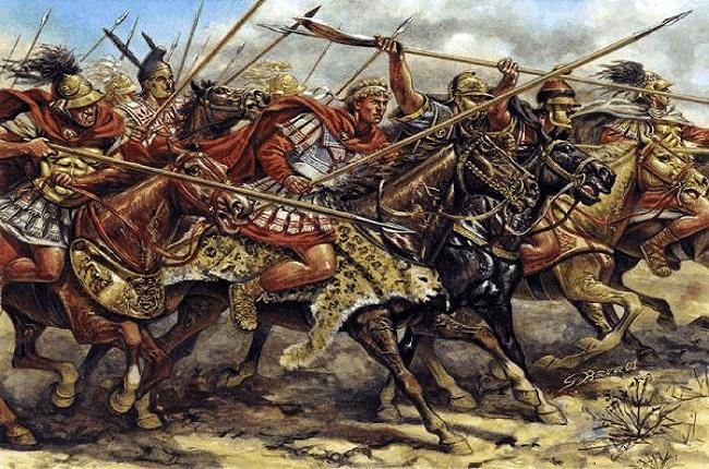 Otra ilustración sobre la batalla de Issos 333 aC Arrecaballo