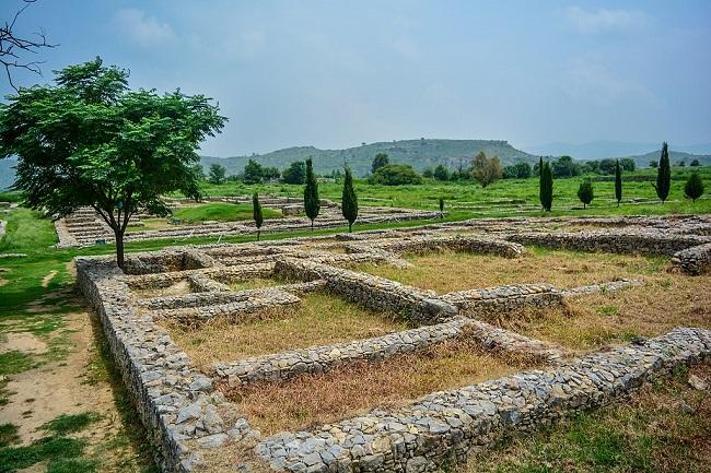Parte del yacimiento arqueológico de Taxila en la actualidad