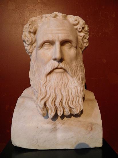 Busto romano de Zenón, uno de los padres de la filosofía helenística