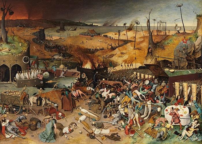 El triunfo de la muerte, obra de Pieter Brueghel el Viejo hecha en 1562