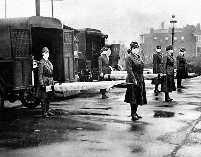 Enfermeras de la Cruz Roja en San Luis (EE UU), en octubre de 1918