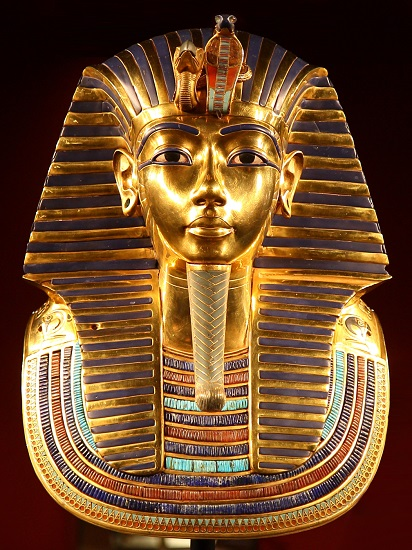 Máscara funeraria de Tutankamón expuesta en el Museo egipcio de El Cairo