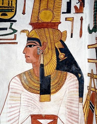Representación de la reina Nefertari en su tumba del Valle de las Reinas