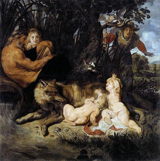 Rómulo y Remo, obra de Rubens sobre los sucesores de Eneas