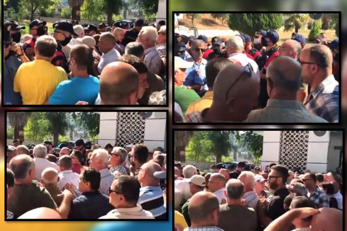 Tensione në Ballsh/ Naftëtarët duan rrogat, policia i shpërndan me spraj!