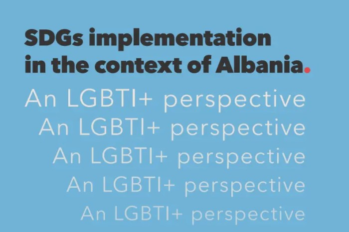 SDGs Implementation in the context of Albania. An LGBTI Perspective