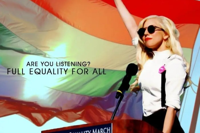 Lady Gaga speech